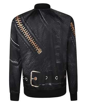 moschino macro biker sweatshirt
