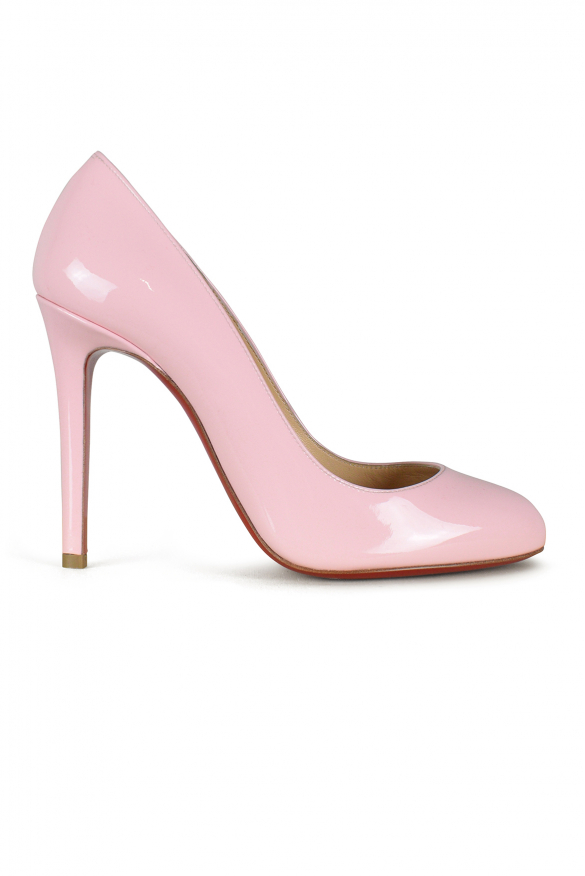 Women's luxury pumps - Fifille Louboutin pumps 100 in pink patent leather