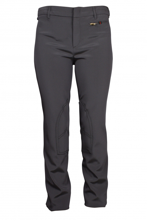 Luxury pants for women - Gucci gray pants with gold details