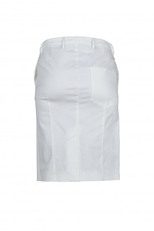 Luxury skirt for women - Prada white slit skirt