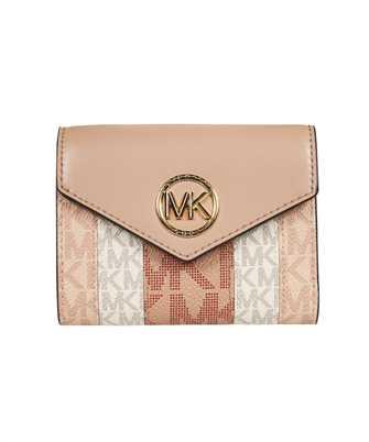 Michael Kors CARMEN MEDIUM COLOR-BLOCK LOGO TRI-FOLD Wallet