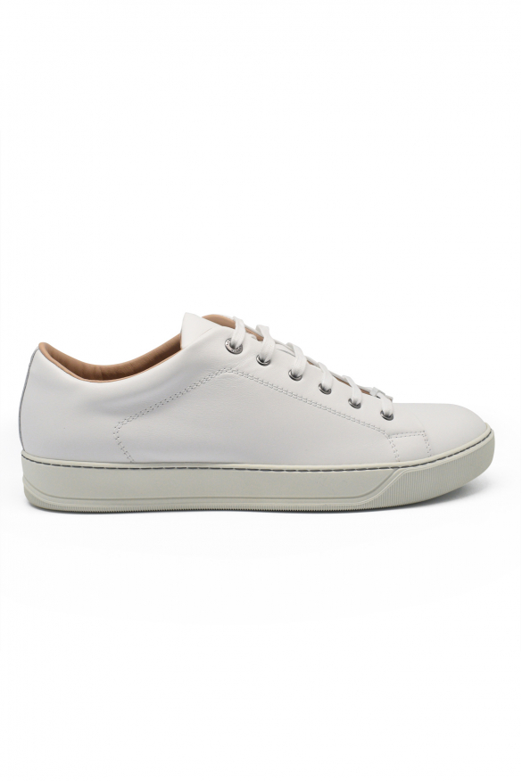 Luxury sneakers for men - Lanvin DBB1 sneakers in white leather