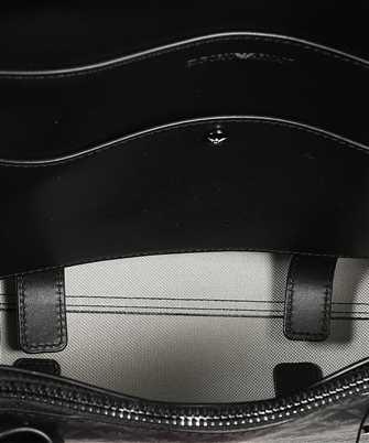 monogram-print tote bag