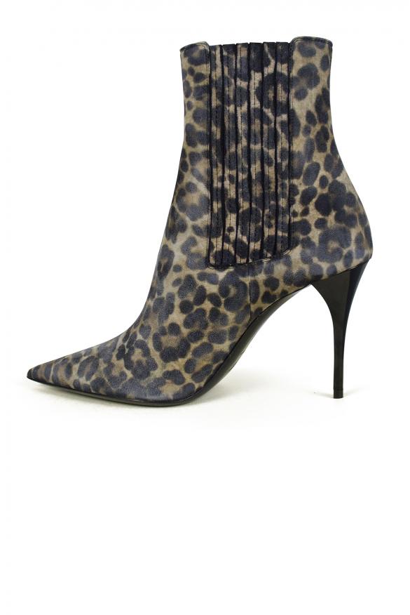 Women's luxury ankle boots - Saint Laurent Lexi model suede ankle boots 9 cm