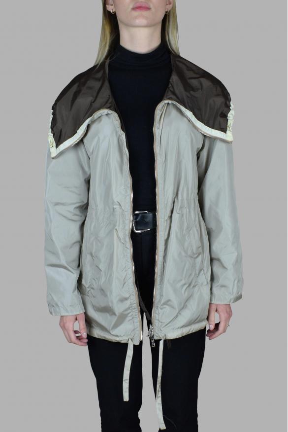 Men's luxury coat - Prada beige and brown jacket