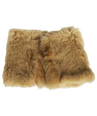 Karl Donoghue SHEARLING & SAGA FOX FUR FINGERLESS Gloves