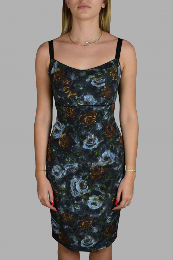 Luxury dress for women - Dolce & Gabbana gray floral dress
