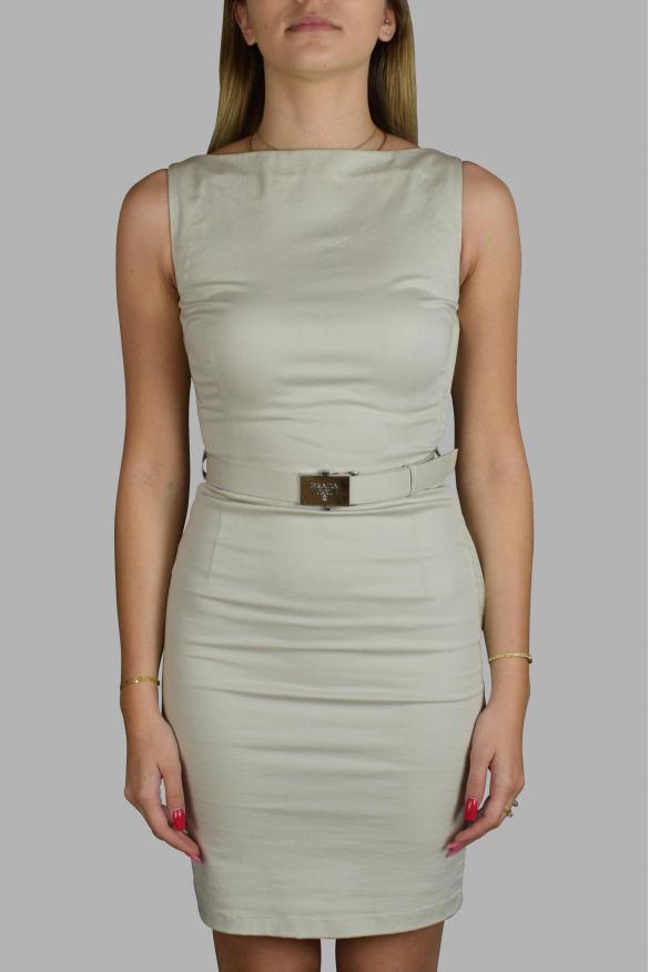 Luxury dress for women - Prada light gray dress