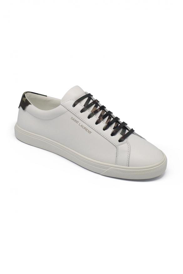 Luxury sneakers for men - Saint Laurent Andy white sneakers