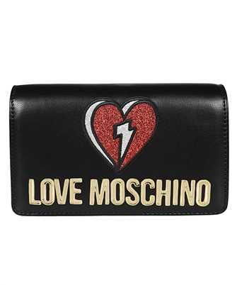 LOVE MOSCHINO GLITTER HEART EVENING Bag