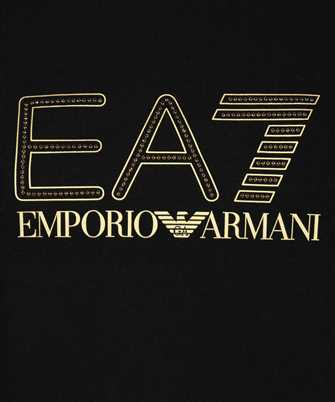 long-sleeve T-shirt with EA7 rhinestone logo