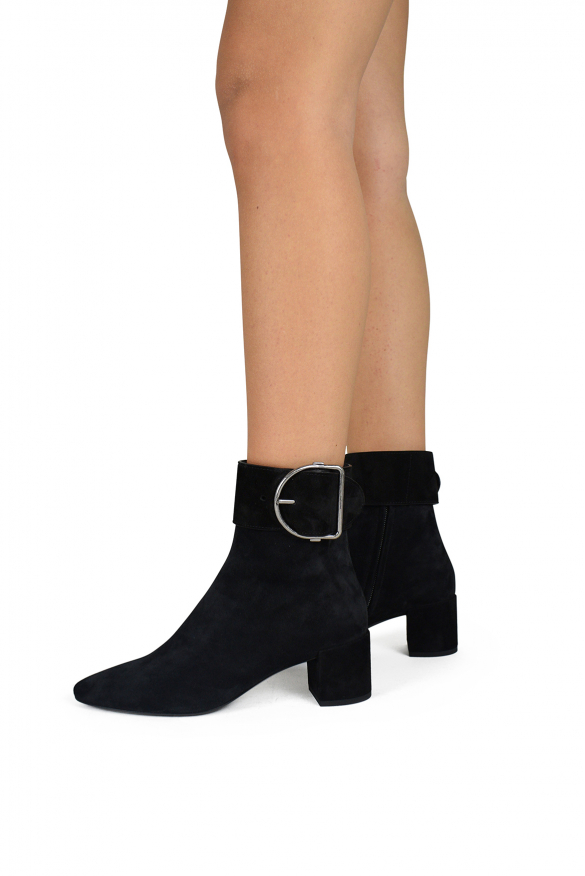 Women luxury shoes - Saint Laurent Charlie ankle boots in black suede