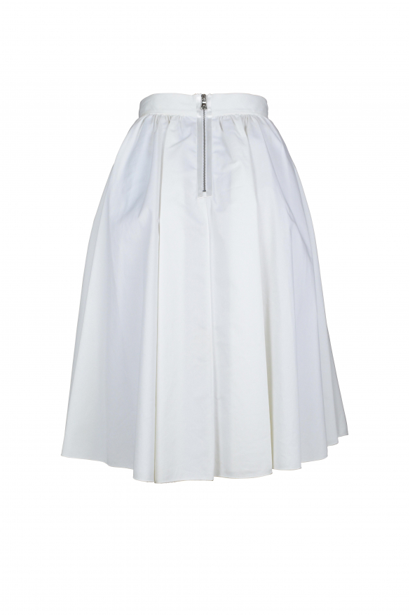Luxury skirt for women - Dolce & Gabbana white pleated cotton skirt