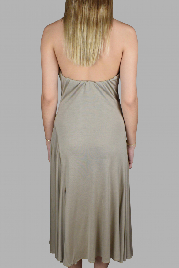 Luxury dress for women - Ralph Lauren beige silk backless dress