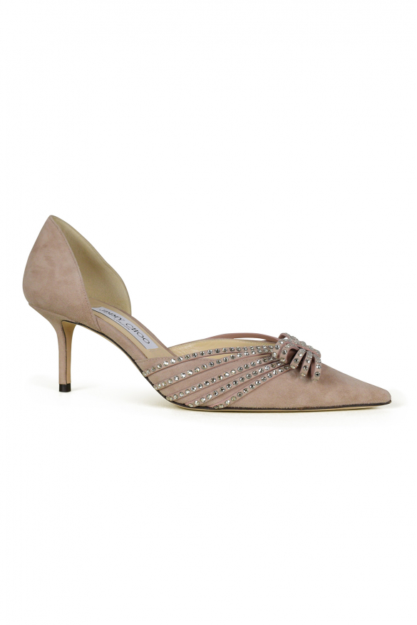 Luxury shoes for women - Jimmy Choo Kaitence 65 in pink suede