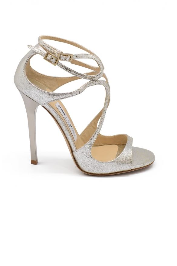Luxury shoes for women - Jimmy Choo Lance champagne leather sandals