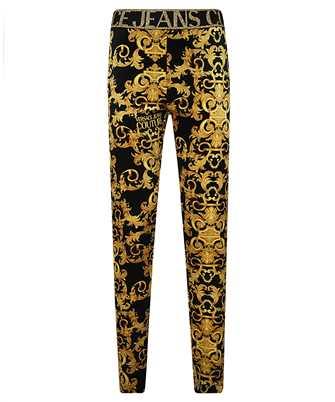 baroque print leggings
