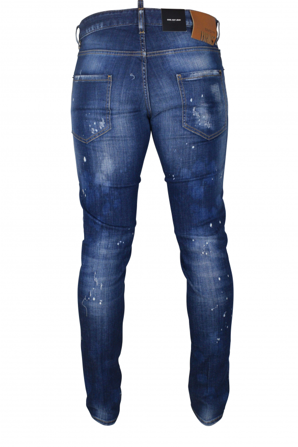 Men's luxury jean - Cool Guy Jean Dsquared2 black with patch  1964