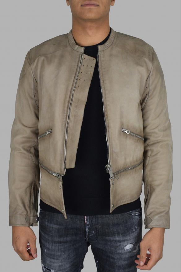 Men's designer jacket - Golden Goose jacket in beige leather
