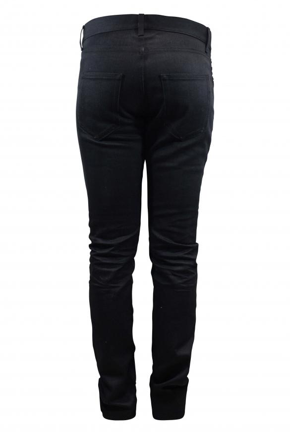 Men's designer jeans - Saint Laurent black Straight jean