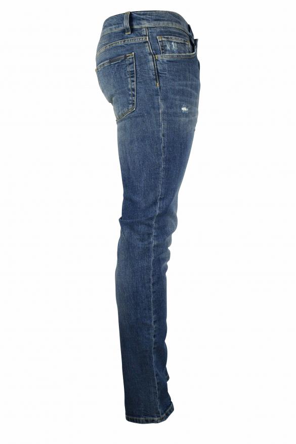 Men's luxury jeans - Dolce & Gabbana blue washed effect jeans