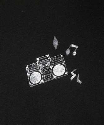 radio print t-shirt