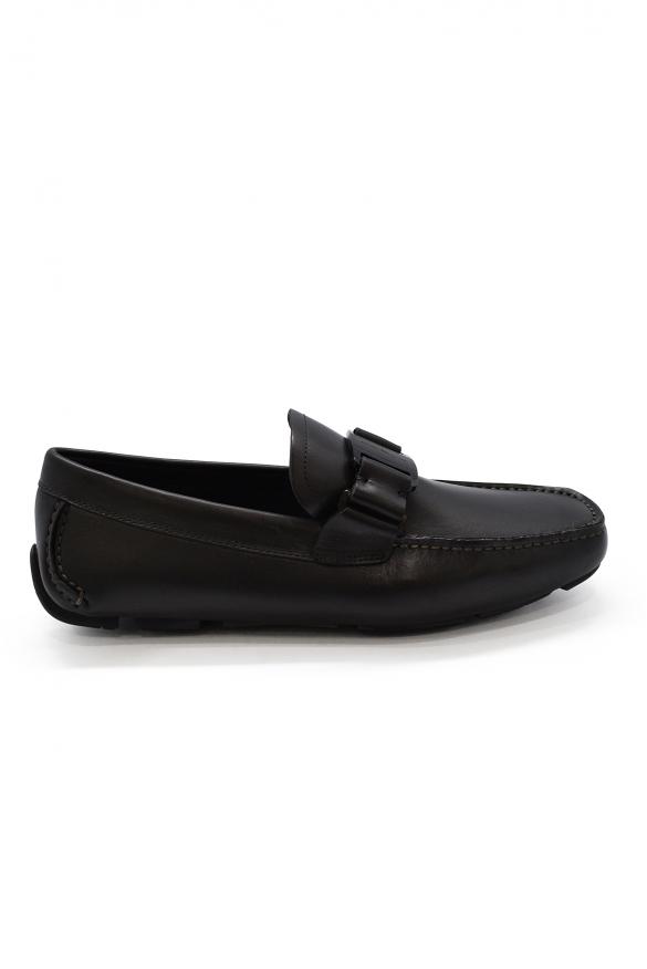 Luxury shoes for men - Salvatore Ferragamo Vara Driver black loafers