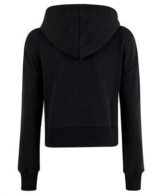 crystal-embellished cropped hoodie