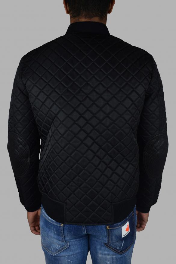 Men's luxury jacket - Philipp Plein bomber in leather and fabric