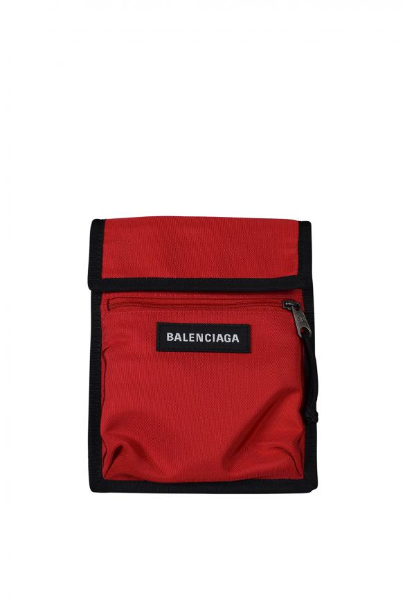 Luxury satchel - Balenciaga satchel in red fabric