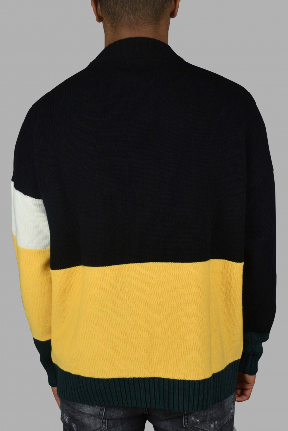 Men's luxury sweater - Off-White black wool sweater