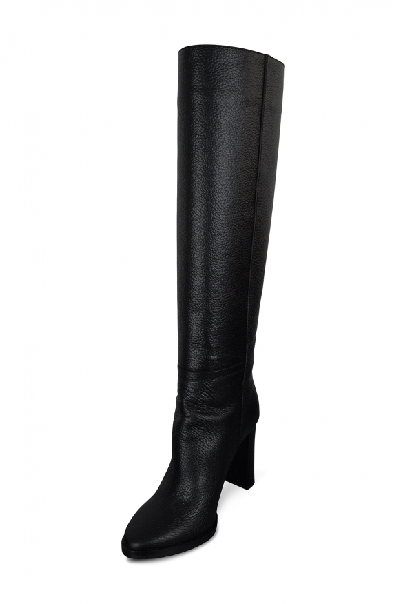 Luxury shoes for women - Jimmy Choo Haywood 95 boots in black leather