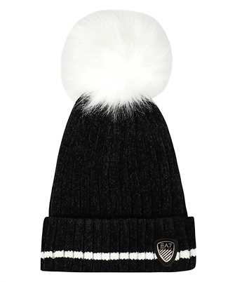 EA7 KNITTED LOGO PATCH Beanie