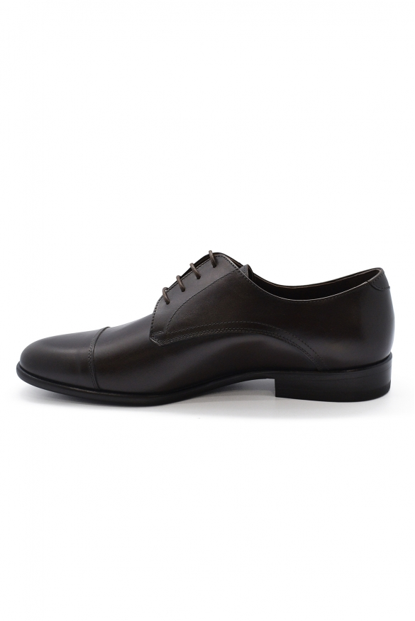 Luxury shoes for men - Brown leather lace-up shoes
