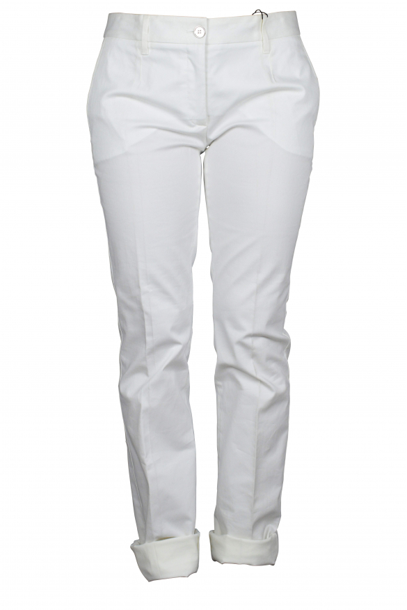 Luxury trousers for women - Dolce & Gabbana white trousers