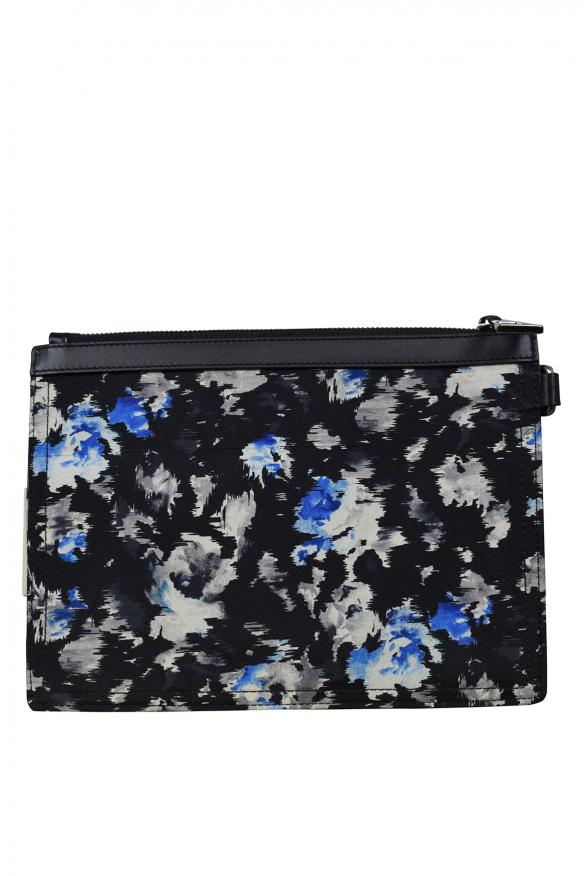 Luxury bags for men - Jimmy Choo Derek black and blue clutch bag