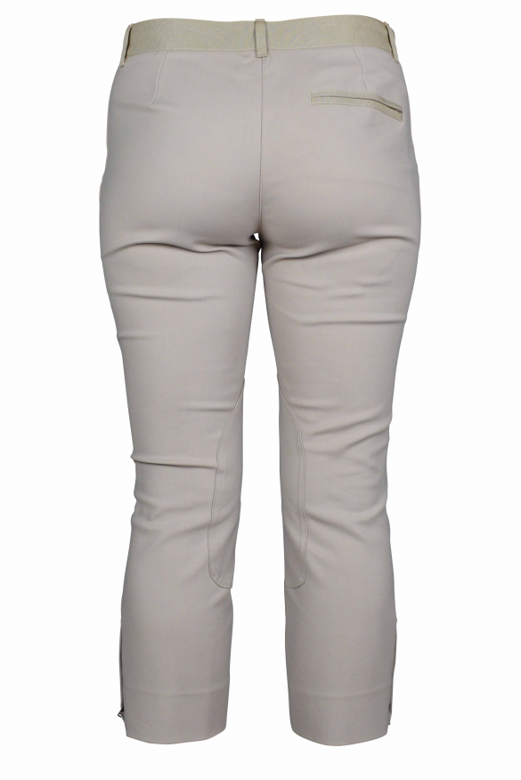 Luxury trousers for women - Dolce & Gabbana beige trousers with inserts