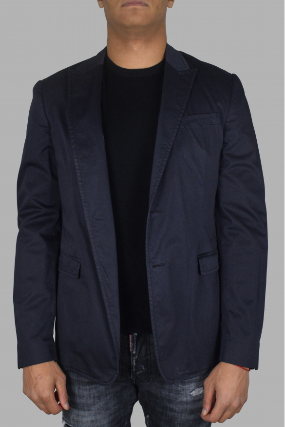 Men's luxury jacket - Prada blue cotton jacket