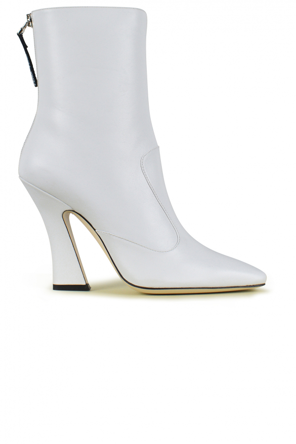 Luxury shoes for women - Fendi white leather ankle boots
