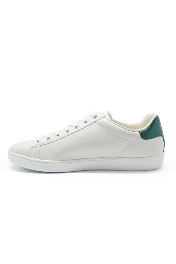Women's luxury sneakers - Gucci New Ace model sneakers in white leather with logo details