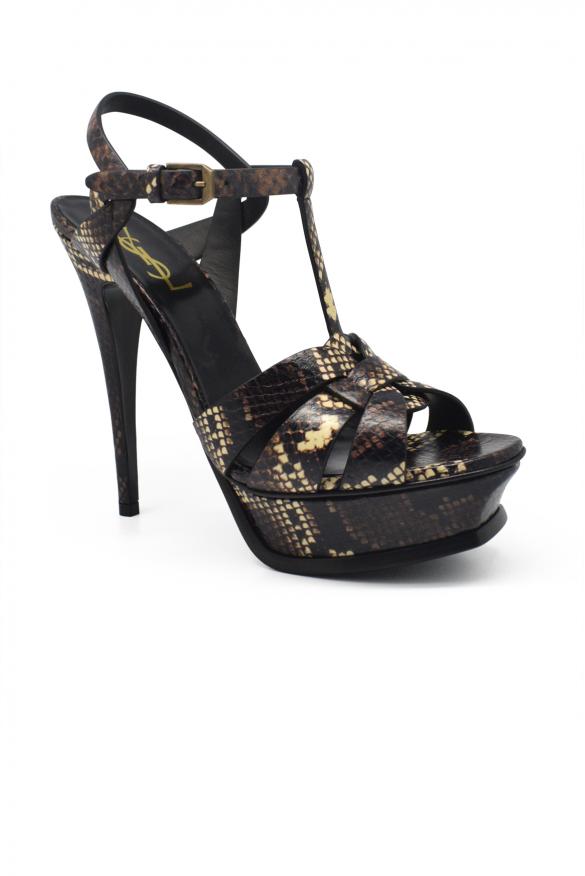 Women's luxury sandals - Saint Laurent Tribute animal print sandals