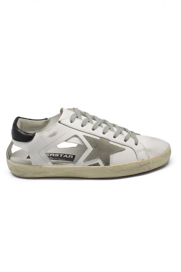 Luxury sneakers for men - Golden Goose Superstar mid-open sneakers
