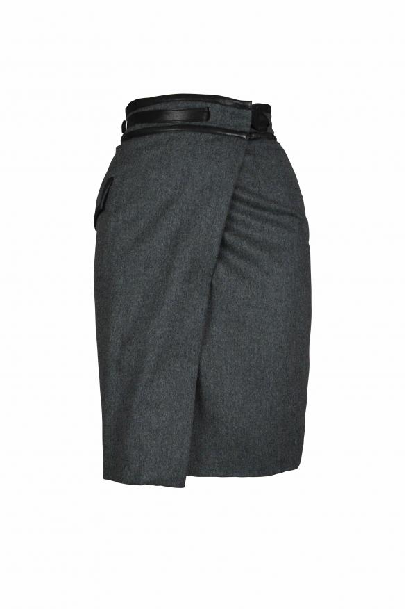 Luxury skirt for women - gray agency crossover skirt