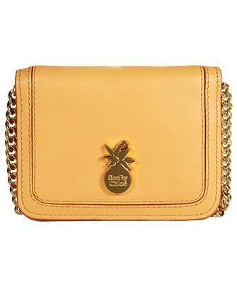 pineapple-plaque leather mini bag