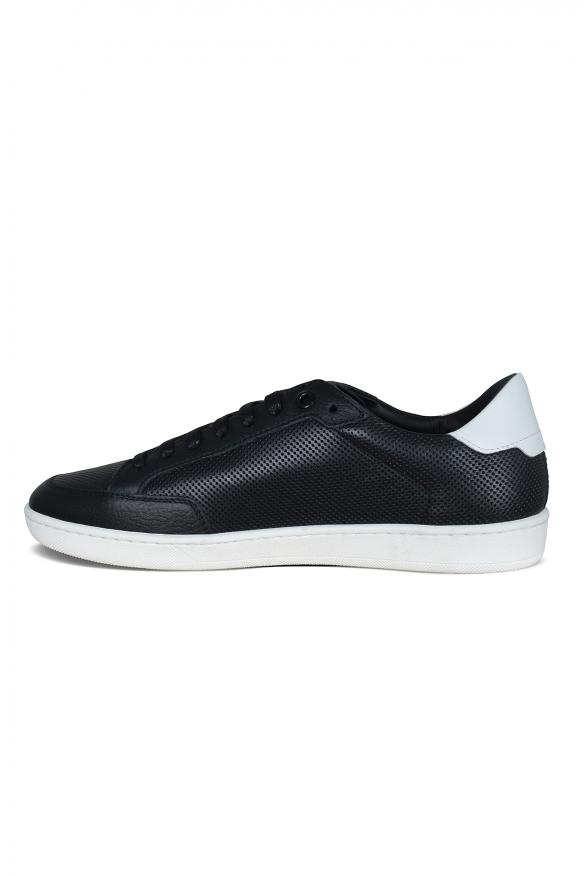 Men's luxury sneakers - Saint Laurent Court Classic SL/06 black sneakers