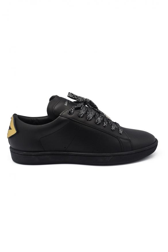 Luxury sneakers for men - Court Classic SL/01 Saint Laurent black sneakers