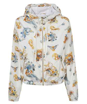 rococo print hooded jacket