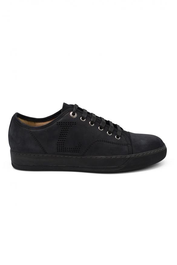 Luxury sneakers for men - Lanvin DBB1 sneakers in blue suede
