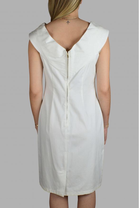 Luxury dress for women - Prada white dress with v-neck