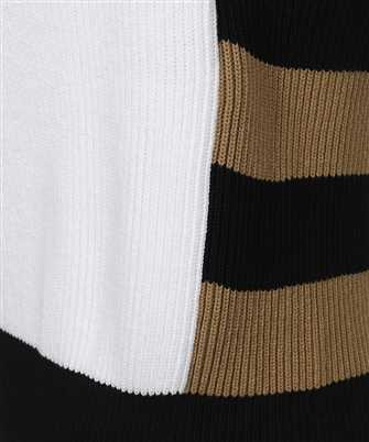 corolla color-block ribbed cotton-blend sweate